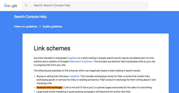 Google and the Link Exchange