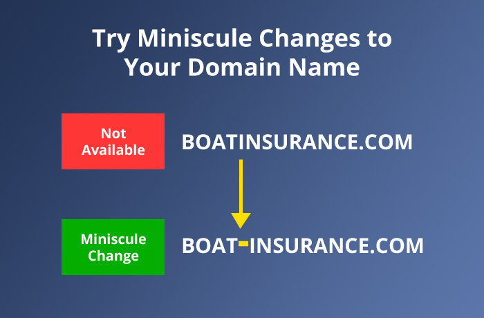Try Miniscule Changes to Your Domain Name
